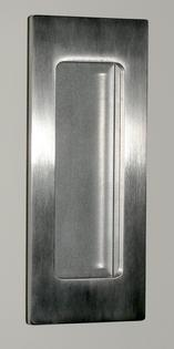 large stainless flush pull