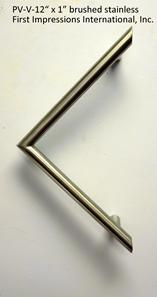 """V"" angular shaped stainless pull architectural"