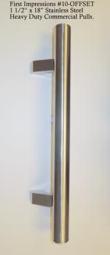 New stainless steel offset commercial  door pulls
