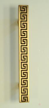 """Greek key"" pull in antique brass"