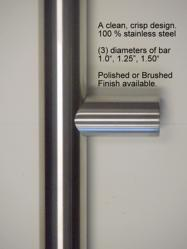First Impressions hardware, Door pull handles, comercial door pulls, brushed stainless door pulls