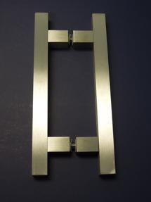 solid square door handle, square door pull, contemporary square handle, art deco square pull