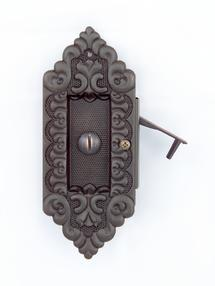 Ornate pocket door hardware