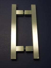 square door handle, square door pull, contemporary square handle, art deco square pull
