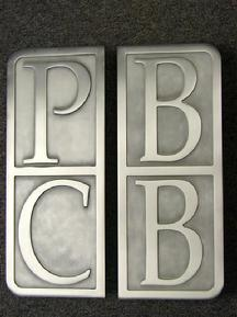 Custom Logo door handles, logo door pulls, custom logo pulls