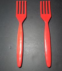 Fork Door Pulls in Red