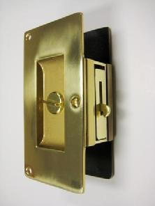 Heavy Duty solid brass pocket door set