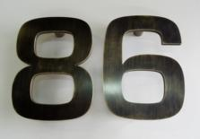 Number door handles, number door pulls, number handles