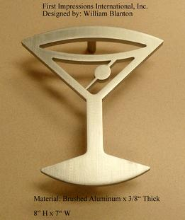 martini glass door handle