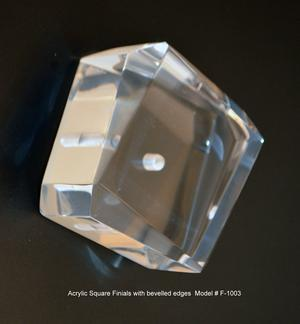 Bevelled Square Acrylic Finial