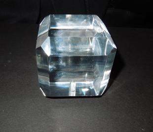 Rectangler Acrylic Finial with bevelled edges