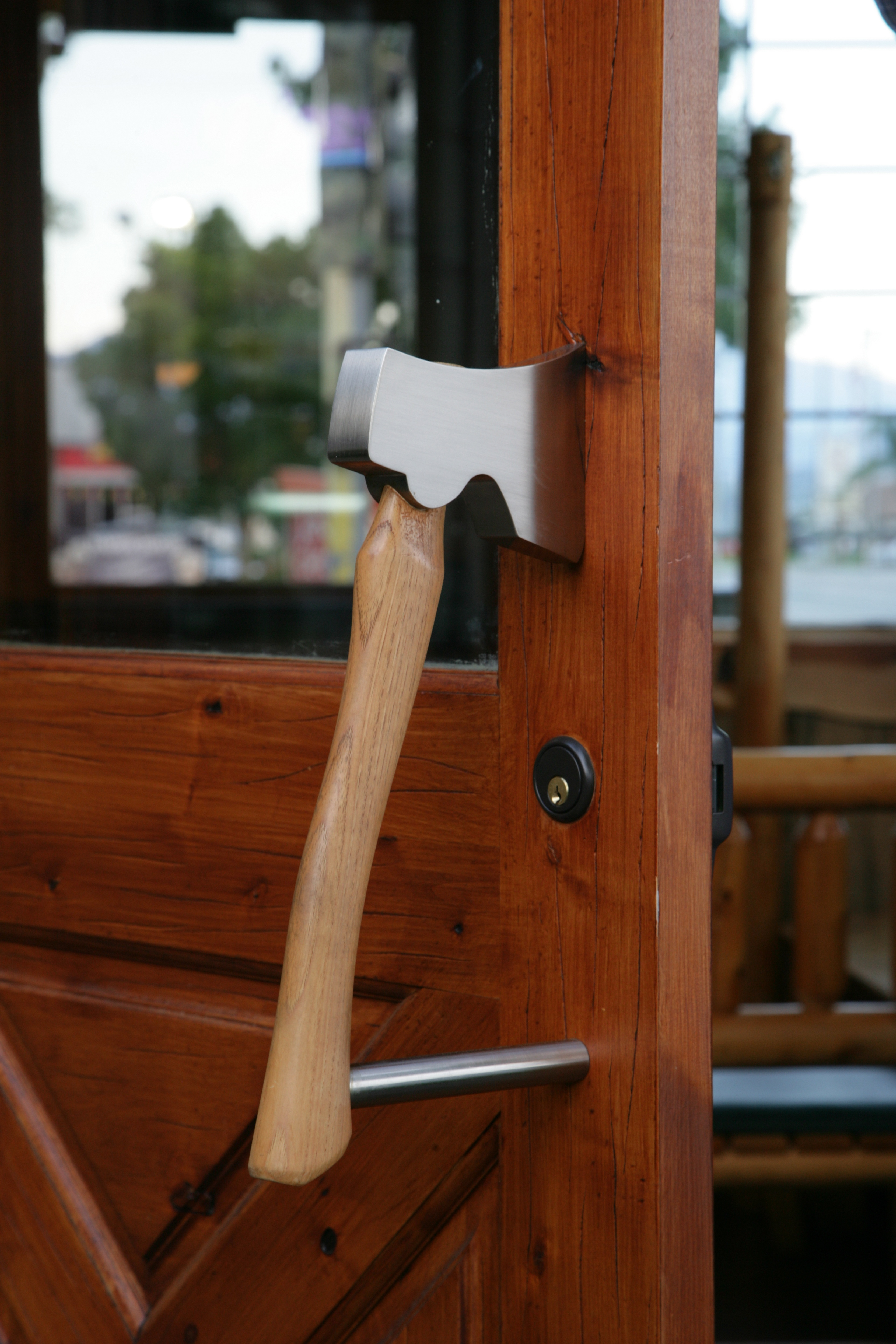 Custom Axe Door Handle Pull First Impressions