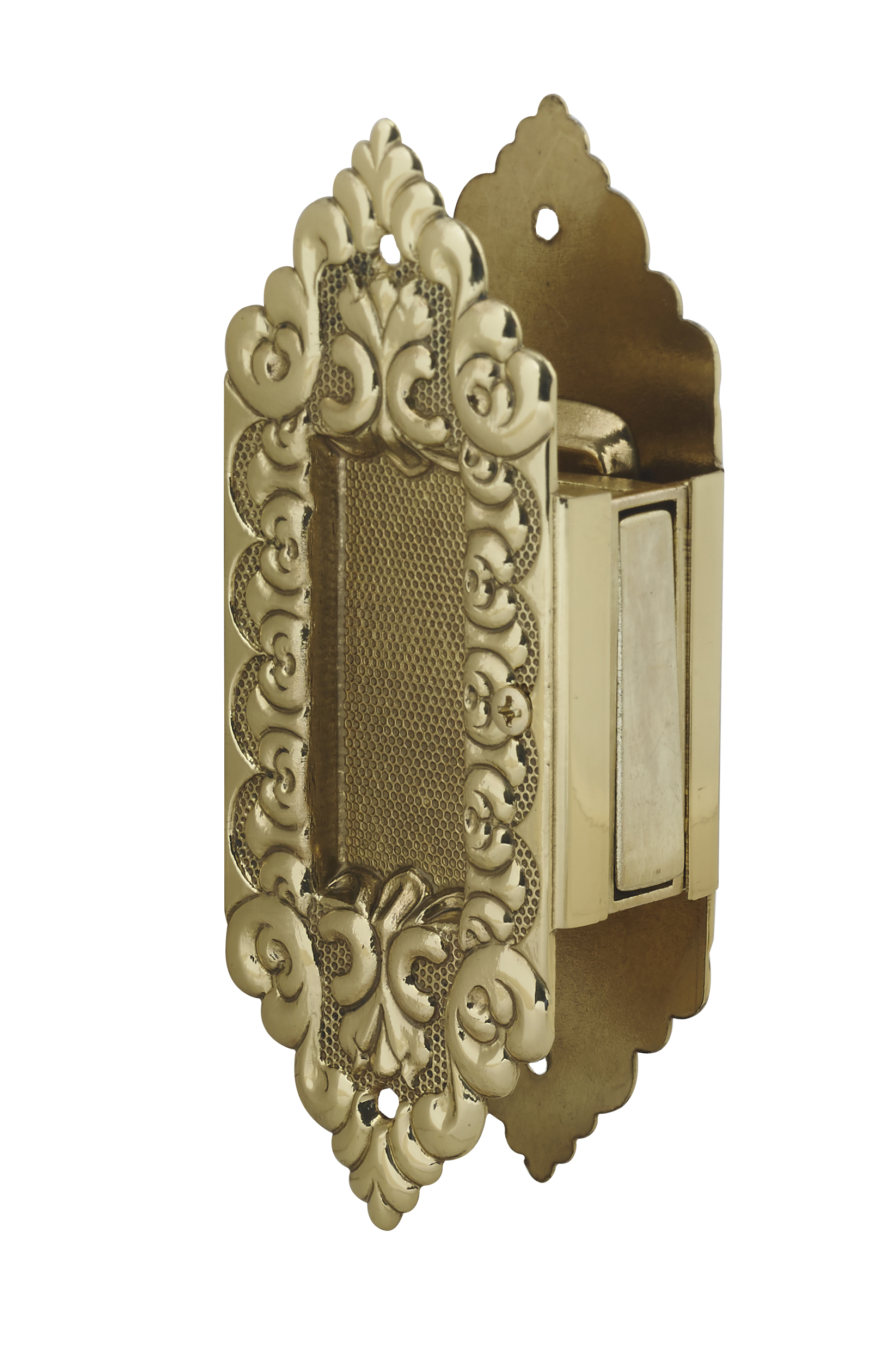 DARBY 2 POCKET DOOR PULL SOLID DECORATIVE BRASS POCKET TRIM SET PASSAGE MORTISE Embellished