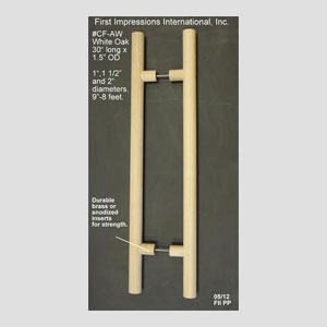 Introducing Our Cool To The Touch, All Wood Pull Collection. Various Sizes,  Diameters, Woods