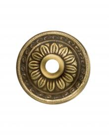 CASTLE 1R Metal DIAMETER DECORATIVE SMALL FLOWER ROSETTE IN BRASS Antique Vintage Victorian