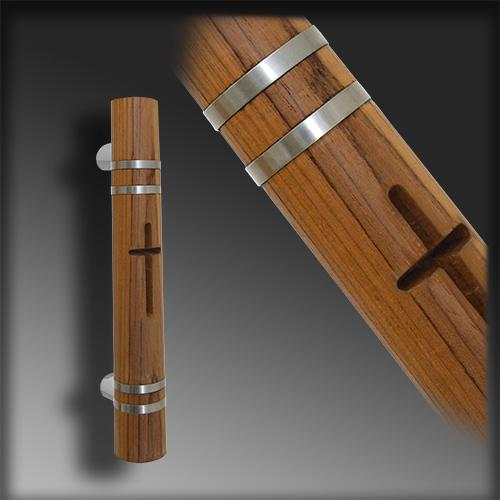 "Custom ""Cross"" Wood Pull with Inlay and Engraving"