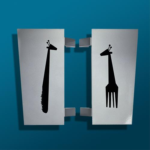 Custom Giraffas Restaurant Door Handle/Pull