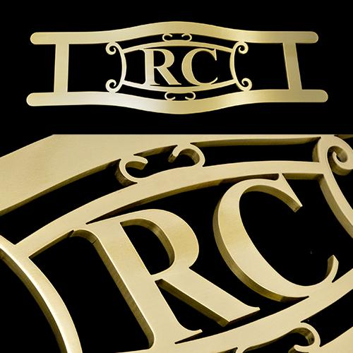 Custom Rc Brass Door Handle Pull Monogram