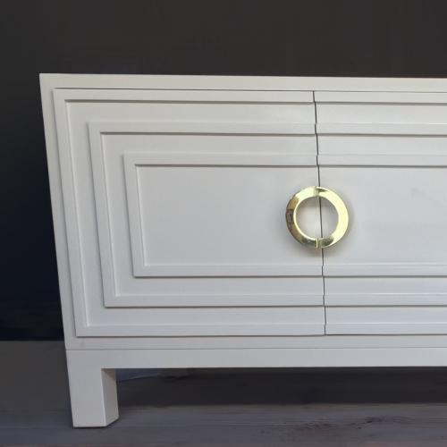 "custom cascade 1""C"" shaped door pull cabinetry installation"