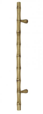 Guadalupe 1 Metal Smooth Bamboo Shaped Grip in Solid Brass Door Handle Pull
