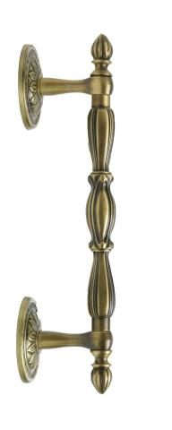 CASTLE 3 DOOR PULL SOLID DECORATIVE GRIP AND STRAIGHT POST MOUNTS BRASS Cabinetry Panels