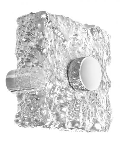 Clearwater 7 Chiseled Acrylic Door Knob Modern Transitional