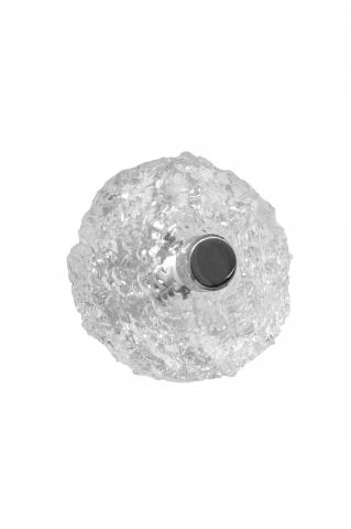 Clearwater 6 hand chiseled acrylic knob drawer pull residential contemporary