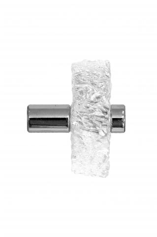 Clearwater 6 hand chiseled acrylic knob commercial conference room glass door straight mount