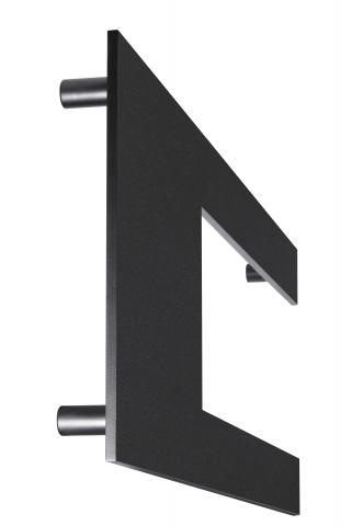 Delano 1 Door Pull Solid Flat CUSTOM Design Grip Straight Round Mounts in Stainless Steel Simple Angular Modern