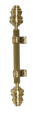 Madison 2 Metal Door Handle Pull Large Reeded Grip and Fancy Cones in Brass with Classic Bracket Elegance Elegant Royal Mansion