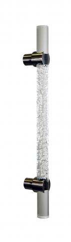 Clearwater 4 Chiseled Acrylic Door Pull Handle Modern Transitional Chiseled Ice