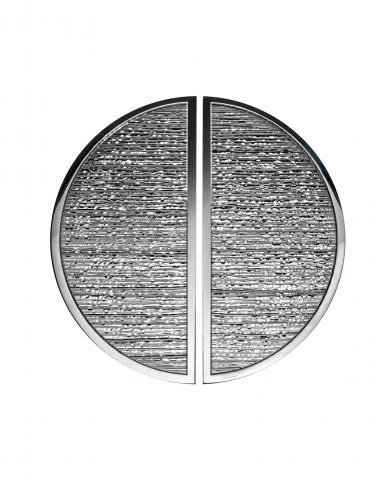 Brooks 2 Door Pull Handle Half Circle Grip Distressed Reeded Hammered center Smooth Boarder Brass