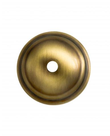 Delaware 1R Diameter Decorative Round Smooth Rosette in Brass