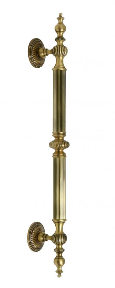 CASTLE 2 Metal DOOR PULL Handle TUBULAR ROUND REEDED GRIP DECORATIVE FINIALS FIXED TAPERED MOUNTS ROSETTES  sc 1 st  First Impressions International & Castle 2 833/1 Door Handles \u0026 Pulls Commercial Residential   First ...